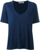 Alexander Wang scoop neck T-shirt - women - Viscose - L