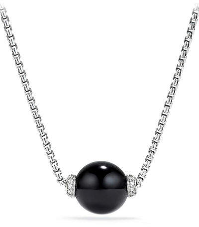 David Yurman Solari Bead Pendant Necklace w/ Diamonds