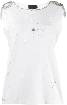 Philipp Plein ripped detail T-shirt