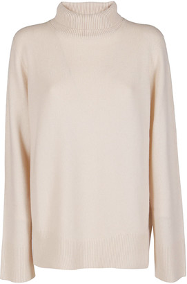 The Row Cream Wool-cashmere Blend Jumper