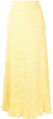 ANNA QUAN Long Rib-Knit Skirt