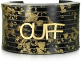 MM6 Maison Martin Margiela Black & Gold Resin Cuff