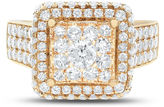 FINE JEWELRY Limited Quantites Womens 2 CT. T.W. Genuine White Diamond 14K Gold Cocktail Ring