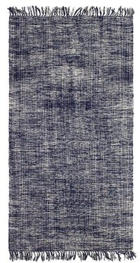 French Connection Yoshi Hand-Knotted Cotton Navy Area Rug Rug Size: Rectangle 3' x 5'