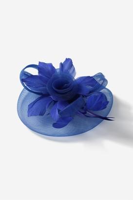 Wallis Blue Large Flower Clip Fascinator