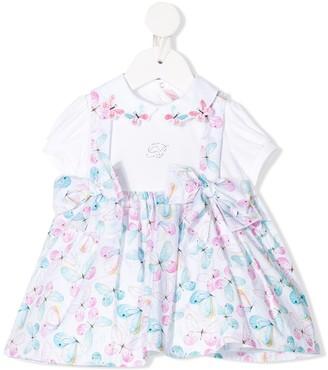 Miss Blumarine Butterfly Print Pinafore Dress