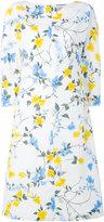 Salvatore Ferragamo floral print shift dress - women - Silk/Cotton/Acetate - 44