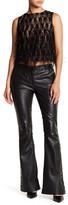 Nicole Miller Jesse Genuine Leather Flare Pant