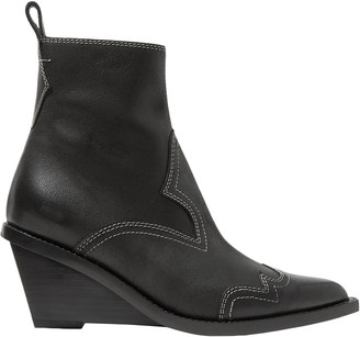 MM6 MAISON MARGIELA Nubuck Wedge Ankle Boots