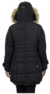 Spire By Galaxy Women's Parka with Detachable Hood and Fur Trim