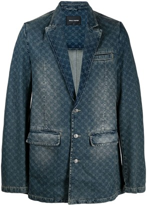 Daily Paper Barbed-Wire Print Blazer Jacket
