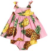 Dolce & Gabbana Pineapple Cotton Dress & Diaper Cover