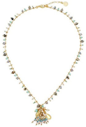 Gas Bijoux Gipsette 24K Gold-Plated & Beaded Pendant Necklace