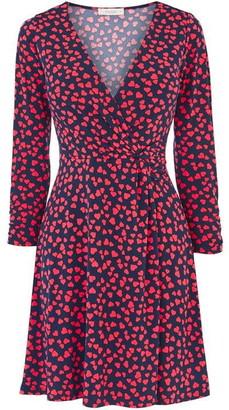 Oasis Heart Twist Side Skater Dress