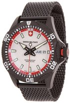 Swiss Military Men's Army 44mm Black Ip Steel Bracelet Swiss Quartz Watch 2740