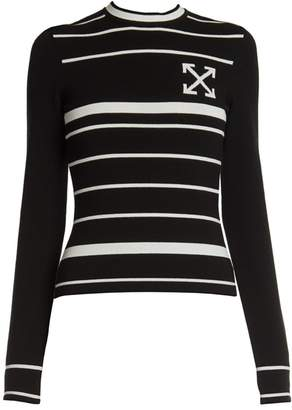 Off-White Off White Double-Arrow Knit Sweater