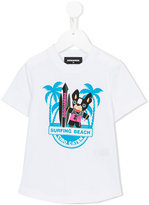 DSQUARED2 Surfing beach T-shirt - kids - Cotton - 8 yrs