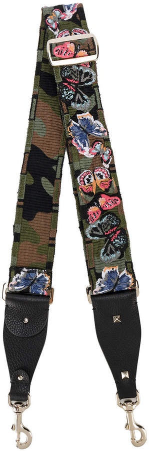 Valentino Garavani Rockstud camouflage butterfly bag strap