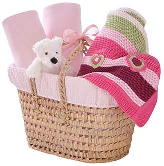 Clair De Lune Waffle Nursery Gift Basket to fit Cot Bed (Pink)