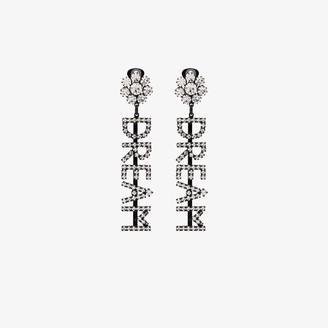 Ashley Williams silver tone Dream crystal earrings