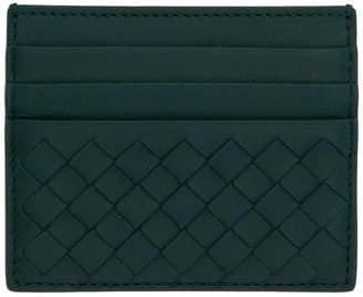 Bottega Veneta Green Intrecciato Card Holder