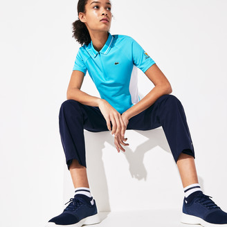 Lacoste Women's Presidents Cup Breathable Texturized Color-Blocked Golf Polo