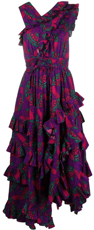 Ulla Johnson Imogen printed ruffled dress