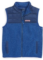 Vineyard Vines Toddler Boy's Jacquard Fleece Vest