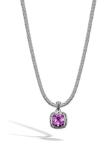 John Hardy Classic Chain Pendant Necklace in Silver with 8MM Gemstone