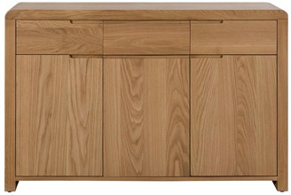 Julian Bowen Newman Curve Ready Assembled Solid Oak and Oak Veneer Sideboard