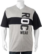Rocawear Big & Tall Colorblock Logo Tee