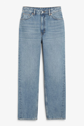 Monki Twisted seam jeans