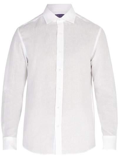 Ralph Lauren Purple Label Serengeti Linen Shirt - Mens - White