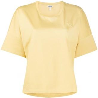 Loewe Anagram high-low hem T-shirt