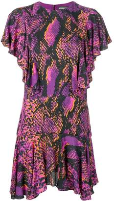House of Holland snakeskin print shift dress