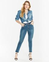 Vintage Blue Denim Shirt with Popper Front Fastening