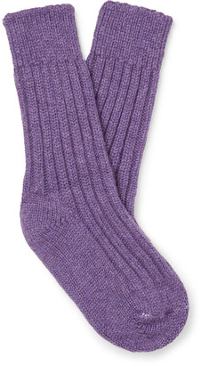 The Elder Statesman Yosemite Melange Cashmere Socks