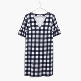 Madewell Bell-Sleeve Dress in Leighton Plaid
