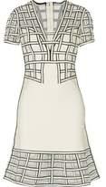 Herve Leger Tamera Tulle-Paneled Flared Bandage Mini Dress