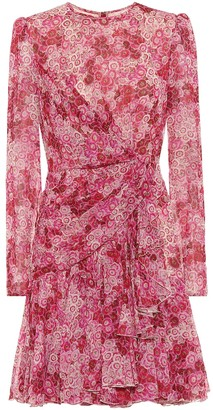 Giambattista Valli Printed silk-georgette minidress