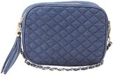 Charlotte Russe Denim Quilted Crossbody Bag