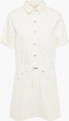 Rag & Bone Gathered Denim Mini Dress