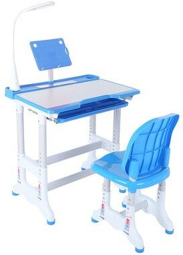 "Isabelle & MaxTM Kaleb Study 27.6"" Art Desk and Chair Set Isabelle & Max Color: Blue"