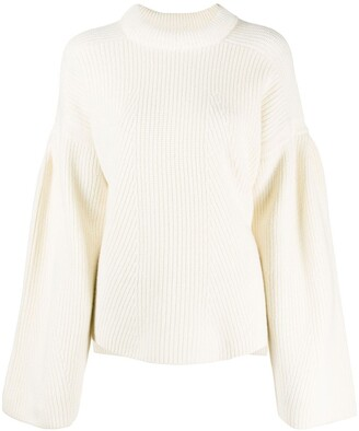 LOULOU STUDIO Loose Fit Ribbed Knit Jumper