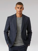 Frank + Oak The Laurier Sharkskin Blazer in Navy