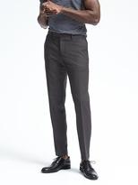 Banana Republic Slim Black Performance Wool Pant