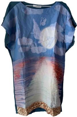 Tsumori Chisato Blue Silk Dress for Women