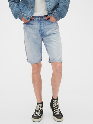 Gap 1969 Premium Distressed Selvedge Denim Shorts