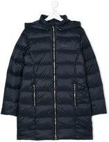 Armani Junior elongated hooded down coat