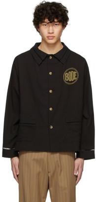 Bode Black Beaded Workwear Jacket